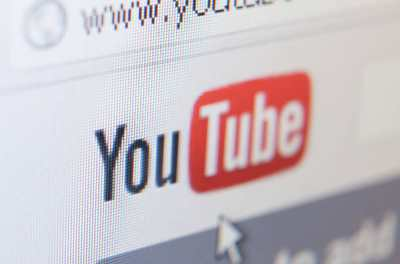 screenshot of the YouTube logo from a computer screen